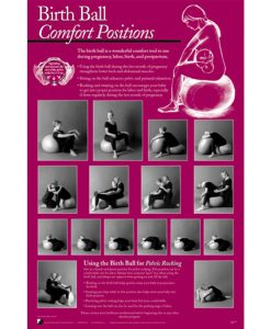 Birth Ball Comfort Positions Chart