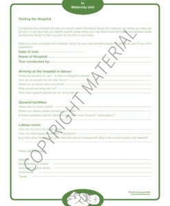 Labour Ward Visit Worksheet Pad