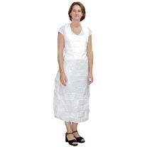 White Plastic Apron Sterile