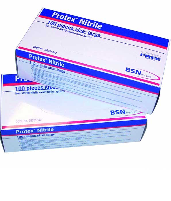 Protex Nitrile Blue Gloves Small Box of 100