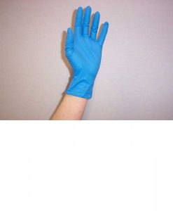 MW218 Protex Nitrile Blue Gloves Large Box of 100