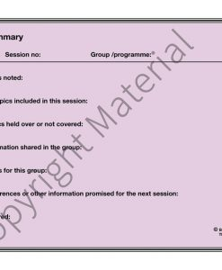 Session Summary Sheet Pad
