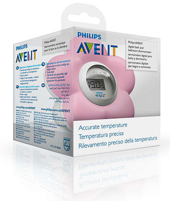 Avent Digital Bath and Room Thermometer Pink
