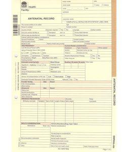 NSW Antenatal Record Card